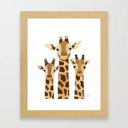 Giraffe Collage Framed Art Print