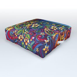 When Vision and Sight Unite by Laura Zollar Outdoor Floor Cushion
