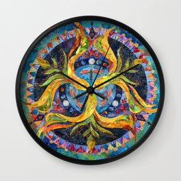 Pond Mandala Wall Clock