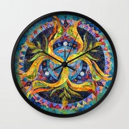 Pond Mandala Wall Clock