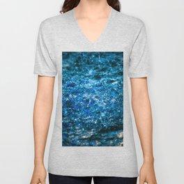Water Color - Blue Unisex V-Neck
