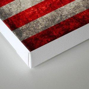 Antique American Flag Canvas Print