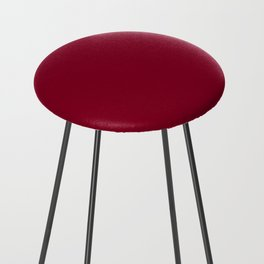 Solid Color Series - Burgundy Red Counter Stool