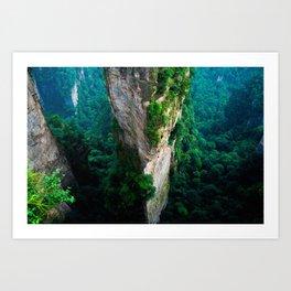 VERTICAL PILLARS - CHINA Art Print