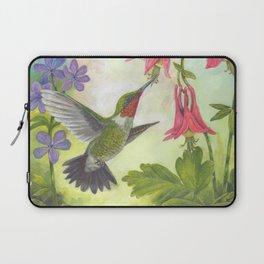 Hummingbird and Columbine Laptop Sleeve