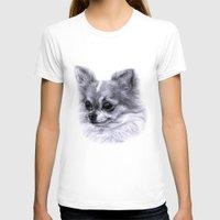 chihuahua T-shirts featuring Chihuahua by Danguole Serstinskaja