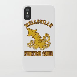 """Wellsville Fighting Squid (Notre Dame/""""Pete and Pete"""" parody) iPhone Case"""