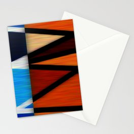 Lined Abstract Stationery Cards