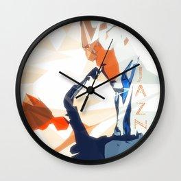 Jazz Sax Poster Wall Clock