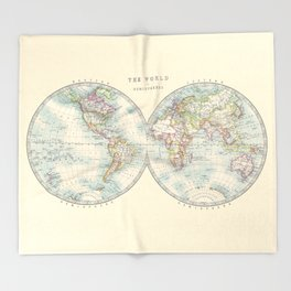 Hemispheres Throw Blanket