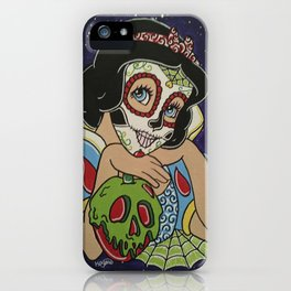 Snow White with apple Sugar Skull iPhone Case