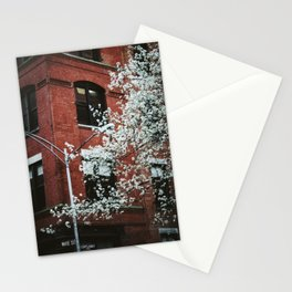 walks in the financial district Stationery Cards