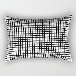 Black Line Rectangular Pillow