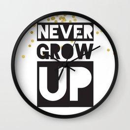 Never Grow Up - Peter Pan Wall Clock