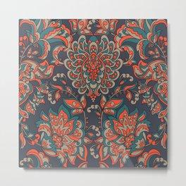 Baroque Vintage Pattern Metal Print
