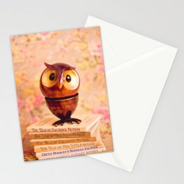 Bookish owl Stationery Cards
