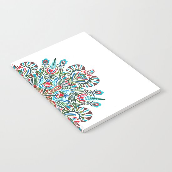 The middle of the Earth mandala Notebook