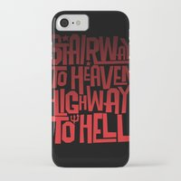 acdc iPhone & iPod Cases featuring HEAVEN AND HELL by All Kings