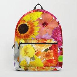 Rainbow Digital Floral Backpack