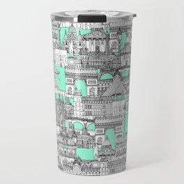 Paris toile aquamarine Travel Mug