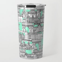 Paris toile aquamarine Travel Mug