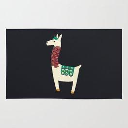 Christmas llama Scarf Rug