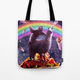 Sloth Riding Llama Tote Bag