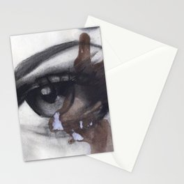 Coffee in my eye Stationery Cards