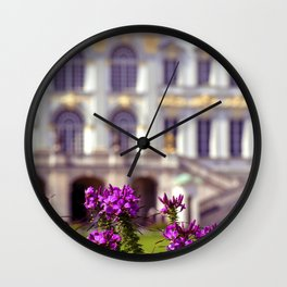 Flowers of castle Nympfenburg Wall Clock