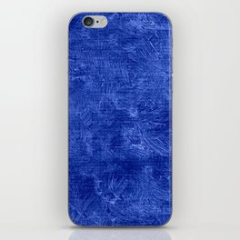 Dazzling Blue Oil Painting Color Accent iPhone Skin