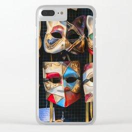 Venetian Carnival Masks (c) Clear iPhone Case