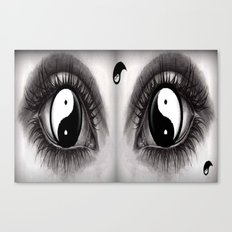 7 Eye Collection: Yin Yang In Your Eyes Canvas Print