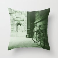 jewish Throw Pillows featuring Break Time by Brown Eyed Lady