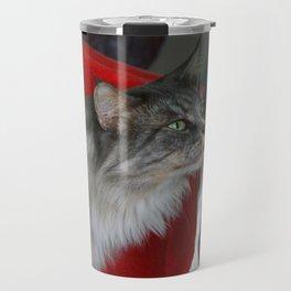 Cat and Parrot Travel Mug