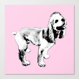 Ginger Happy Cocker Spaniel Canvas Print
