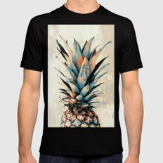 PINEAPPLE 3 Black Mens Fitted Tee X-LARGE
