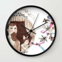 daria Wall Clocks featuring Take Me There by Brooke Weeber