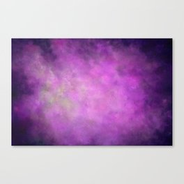 Abstract Soft Watercolor Gradient Ombre Blend 5 Light and Dark Purple Canvas Print