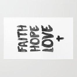 Faith Hope Love Rug
