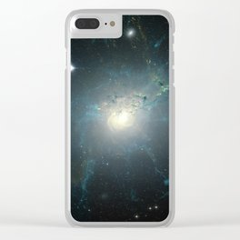 Dusty spiral galaxy Clear iPhone Case