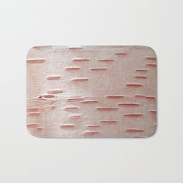 Pink Birch Bark Bath Mat