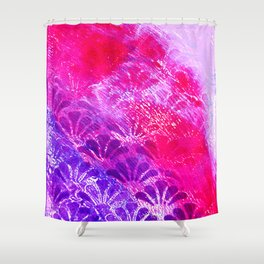 Pinky Purple Fanning Shower Curtain