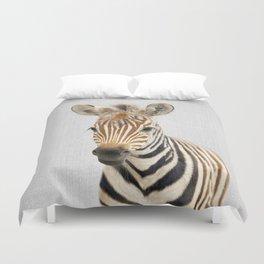 Baby Zebra - Colorful Duvet Cover
