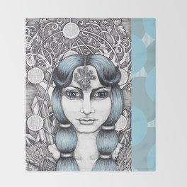 Maiden of Midgard Throw Blanket