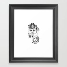 P1R4T3 C4T (Pirate Cat) Framed Art Print