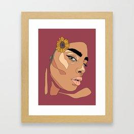 Sun Beams (Plain) Framed Art Print
