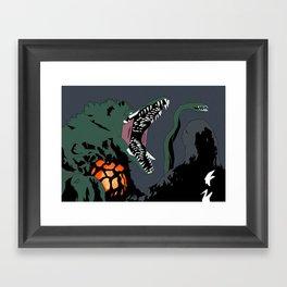 Godzilla vs. Biollante Framed Art Print