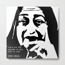 Zaha Hadid Quote Metal Print