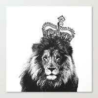 the lion king Canvas Prints featuring Lion King by MaNia Creations