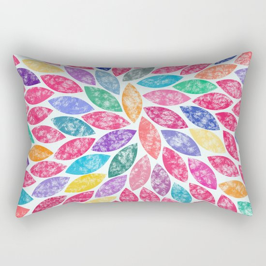 Abstract Colorful leaves II Rectangular Pillow